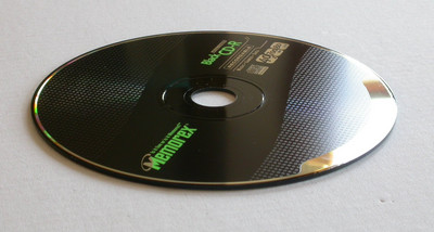 Memorex Black CD-R with hardly any writable surface.