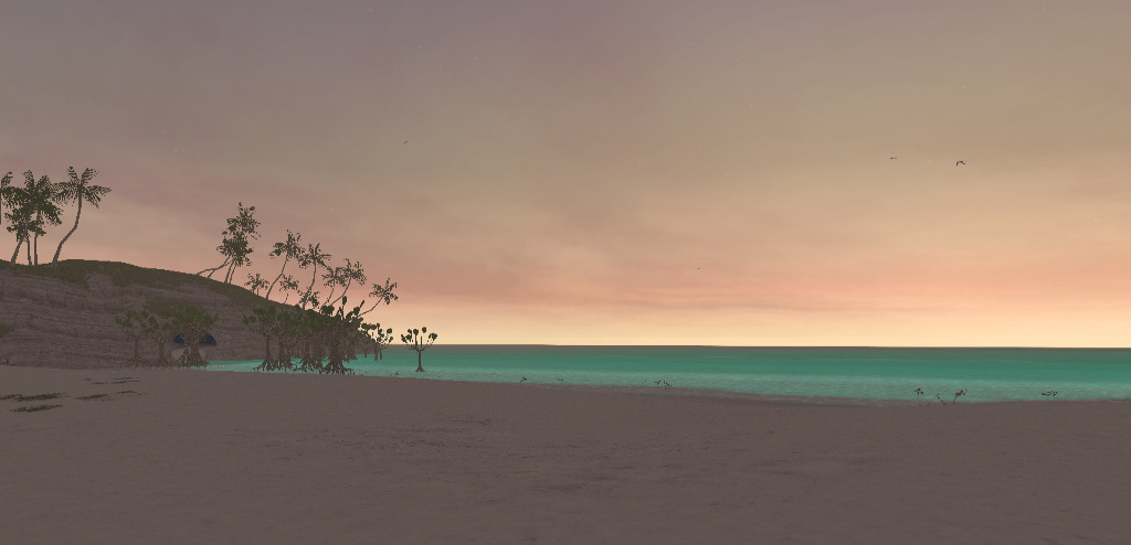 Screenshot of a beach in Final Fantasy XI