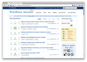 Screenshot of WordPress Stack Exchange