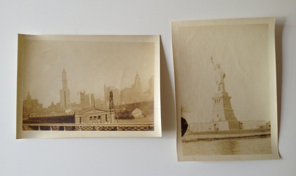 Photograph of two old snapshots